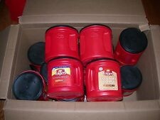 20 Empty Plastic Coffee Cans Containers & Lids Storage Crafts Garage