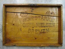 ANTIQUE AMERICAN IMMIGRANT TRUNK TOP ROLAND BREMEN SIGN HOLY ROMAN EMPIRE SIGN