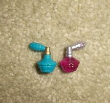 BARBIE DOLL CLOTHES ACCESSORIES - COSMETICS - 2 ORNATE PURFUME BOTTLES