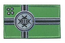 Kekistan Flag Embroidered Hook and Loop Patch - 8.5x5cm 4chan Kek Dank Meme pepe
