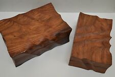 2 PCS HANDMADE ROSEWOOD HAND CARVED CHEST JEWELRY BOX #F-302