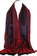 Quality Two Sided Print Self Embossed Pashmina Feel Wrap Scarf Stole Shawl