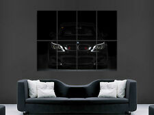 BLACK BMW M5 E60 CAR FRONT SPEED RACING SPORT WALL ART PRINT LARGE GIANT
