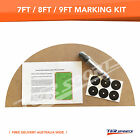 BILLIARD SNOOKER TABLE MARKING KIT FOR 7FT 8FT 9FT POOL TABLE INSTRUCTION & PEN