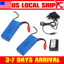 2Sets 7.4V 2500mAh Lipo Power Battery For Syma X8C X8W X8G w/ 2 in1 Charger Box