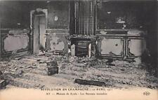 CPA 51 REVOLUTION EN CHAMPAGNE 1911 AY MAISON DE AYALA LES BUREAUX INCENDIES