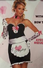 PLAYBOY FRENCH MANSION MAID HALLOWEEN COSTUME SEXY LINGERIE ADULT WOMEN'S MEDIUM