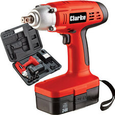 """CLARKE IMPACT WRENCH 1/2"""" DRIVE & CARRY CASE CORDLESS CIR220 4500635"""