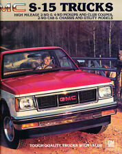 1983 GMC Truck S-15 S15 Pickup 28-page Original Sales Brochure Catalog