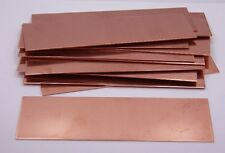 Copper Sheet, Bracelet Blanks 18ga 6 in. x 2 in. 1.02mm Thick Package Of 12