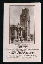 Gloucestershire Glos BRISTOL  SILEX York Stone Advertising c1910/20s? RP PPC