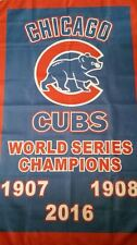 Brand New Chicago Cubs World Series Champions 3x5 ft Flag Deluxe Poster Banner