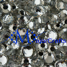 200pcs Crystal Clear 8mm ss40 Flat Back Resin Rhinestones Diamante Gems C29