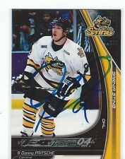 Dan Fritsche Signed 2003/04 Sarnia Sting Team Issued Card