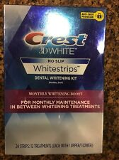 CREST Whitestrips 3D White MONTHLY WHITENING BOOST 24 Strips 12 Treatments 3/18
