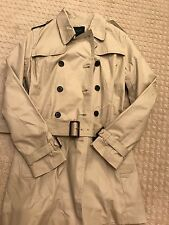 NEW NWT Banana Republic Womens Trench Coat Small Khaki Tan Beige Spring Business