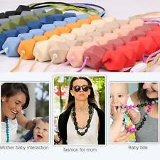 Baby Teething Necklace Bead Breastfeeding Nursing Jewelry Toothbrush Teether Toy