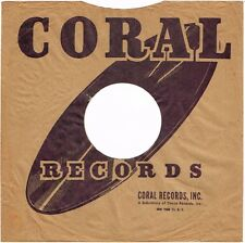 "1940s 10"" inch CORAL Records Record SLEEVE ONLY 78 RPM"
