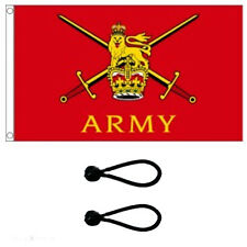 British Army Flag 5x3ft Flag Poles Or Windsocks Poles.Comes With FREE BALL TIES