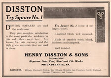 1911 C AD HENRY DISSTON SONS TRY SQUARE NO 1 CARPENTERS
