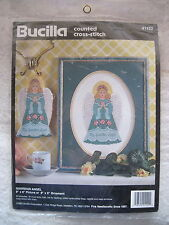 GUARDIAN ANGEL Picture or Ornament - Bucilla Counted Cross Stitch Kit - NEW