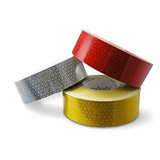 Per metre - YELLOW Reflexite VC104+ Rigid Grade Reflective Reflector Tape 1m UK