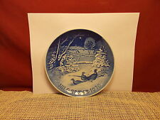 """Bing & Gronhdahl China 1970 Christmas PLate  Pheasants In The Snow 7 1/8"""""""