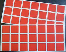 """MATT Rosso Carta Adesivi, 25mm (1 """"), quadrato 42 etichette, confezione risparmio, blc512"""