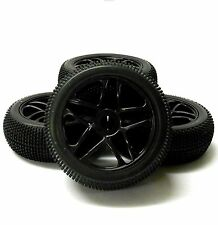 180081 1/8 Scale Off Road Buggy RC 10 Spoke Wheels and Tyres Black x 4