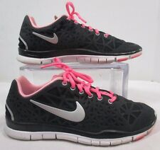 Nike Free TR Fit 3 Black/Polarized Pink/Pure Platinum Running Sneakers Sz 8M