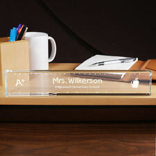 Personalized Teacher's Name Plate - Desk Nameplate School Classroom Gift