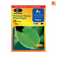 Sumvision Premium Glossy 180gm A6 Photo Paper 25 Sheets Pack