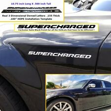 Hellcat Supercharged Emblem Black Challenger Charger w/ Installation Template