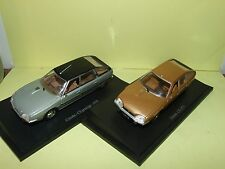 CITROEN CX 1975 & 1978 LOT DE 2 UNIVERSAL HOBBIES sur socle 1:43 défaut default