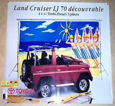TOYOTA LAND/CRUISER DECOUVRABLE LJ/70 4x4 TURBO DIESEL 1993 Affiche pub RARE