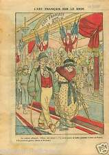 l'Art Français sur le Rhin Poilus Costumes Touristes Germany 1921 ILLUSTRATION