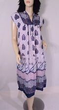 Vintage 1970s 70s India Hippie Princess Festival Cotton Gauze Palm Trees Dress S