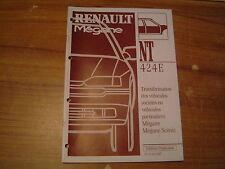 MANUEL DE REPARATION RENAULT MEGANE / SCENIC TRANSFORMATION UTILITAIRE   VP