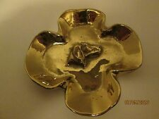 Vintage Virginia Metalcrafters Brass  Ash Tray With Irish Setter Head  3-16