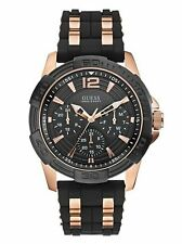 GUESS W0366G3 Men's Masculine Rose Gold-Tone mens chronograph