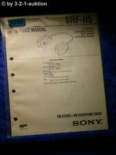 Sony Service Manual SRF H5 PLL Synthesized Radio (#5255)