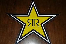 """FOUR"" NEW 7"" ROCKSTAR ENERGY STAR STICKER/DECAL for only $5  thats only 1.25 ea"