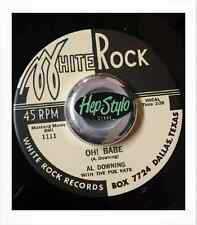 BIG AL DOWNING RE 45- DOWN ON THE FARM/OH BABE - SUPERB WHITE ROCK CLASSIC HIT
