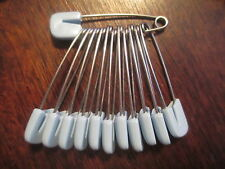 Baby Diaper Pins 36 Blue 1960's Vintage Strong and Sturdy Locking Clasp Unused