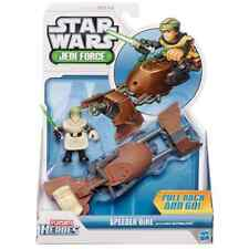 PLAYSKOOL HEROES STAR WARS JEDI FORCE SPEEDER BIKE & LUKE SKYWALKER FIGURE