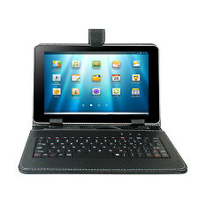"KOCASO 9"" faux Leather Stand Fold Case Cover Keyboard For 9'' inch Tablet"