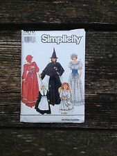 Simplicity Sewing Pattern #9809  Witch Pilgrim Angel Pioneer Size BB 2-12 Uncut