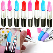 10pcs Novelty Stationery Lipstick Ballpoint Pen Creative Design Party Favor Gift