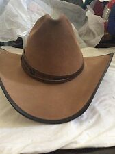 Head N Home tan/leather cowBoy HaT/XLindian jones w/real Liberty silver coin NWT