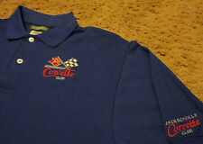 NEW Mens ~ CORVETTE CLUB JACKSONVILLE FL ~ Polo Golf Shirt Medium NWOT